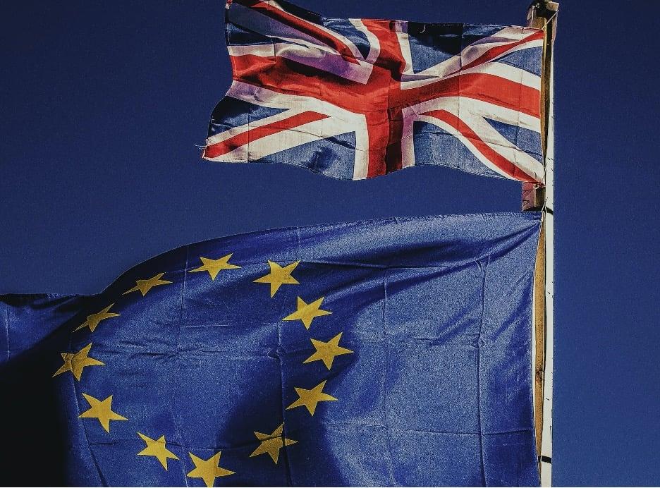 European Union and Britain Flag